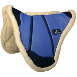 Saddle pad for riding in natural sheep wool - Saddlery Gaston Mercier