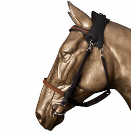 [ DESTOCKING ] Halter Bridle M coffee / black, browband and noseband walnut