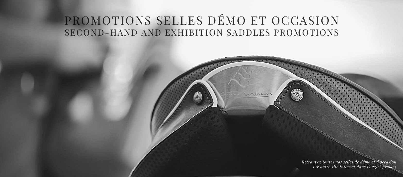 Second-Hand and Exhibition Saddles Promotions