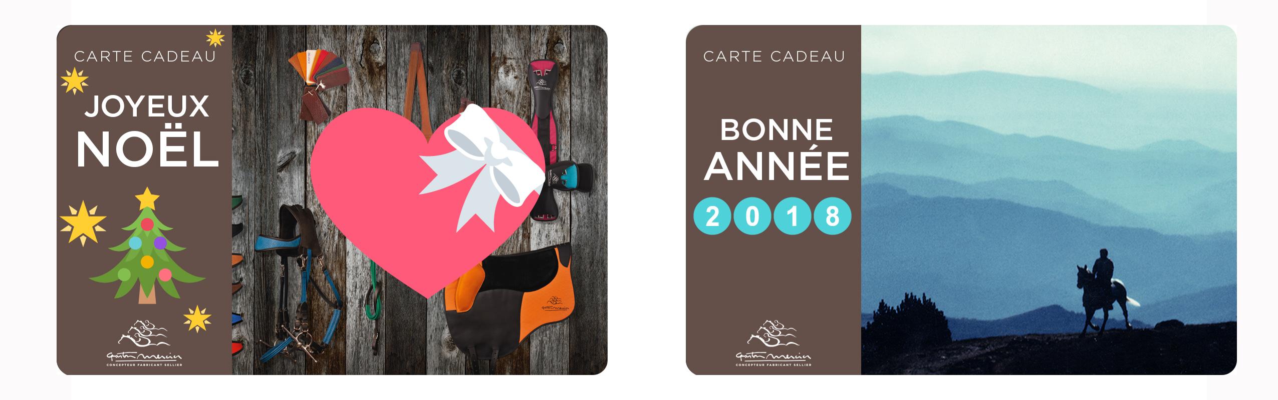Carte Cadeau Gaston Mercier Noel Bonne Année