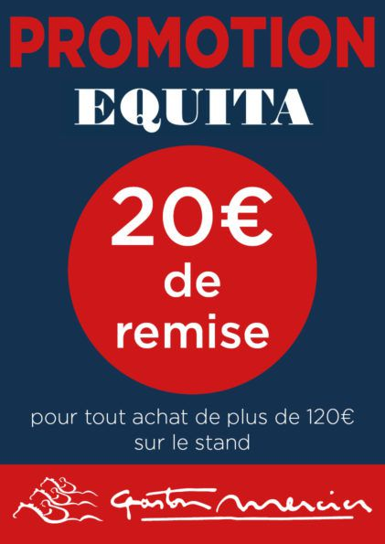 Promotion sellerie Gaston Mercier salon Equita 2018