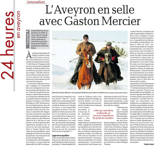 La-Depeche-article Sellerie Gaston Mercier