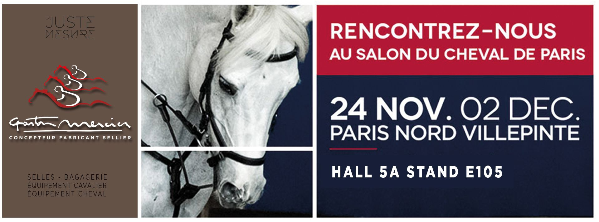 Rencontrez la sellerie Gaston Mercier au Salon du Cheval de Paris 2018